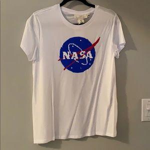 NWT H&M NASA mermaid sequin T-shirt